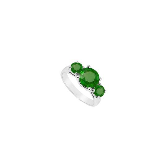 Preload https://img-static.tradesy.com/item/24037395/white-green-sterling-silver-frosted-emerald-three-stone-250-carat-ring-0-0-540-540.jpg