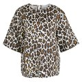 Stella McCartney Print Linen Top Cream Image 0