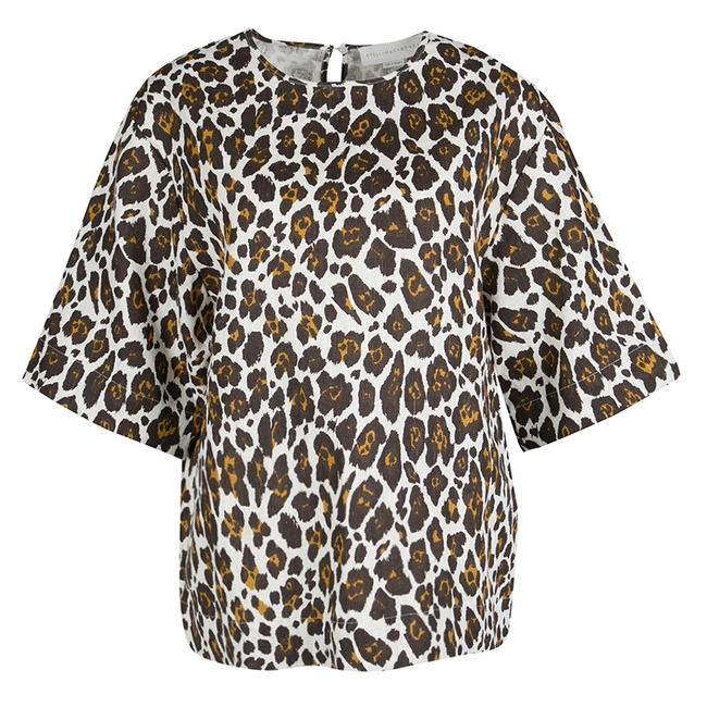Preload https://img-static.tradesy.com/item/24037403/stella-mccartney-cream-animal-print-linen-short-sleeve-oversized-blouse-size-10-m-0-0-650-650.jpg