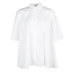 Giambattista Valli Cotton Formal Top White