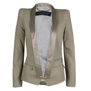 Barbara Bui Cotton Satin Brown Blazer
