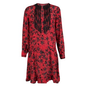 Zadig & Voltaire short dress Red Print Silk on Tradesy