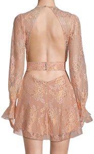 For Love & Lemons Lace Lace Trim Night Out Open Back Party Dress