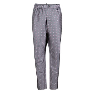Dsquared2 Contrast Floral Jacquard Silk Polyester Trouser Pants Grey
