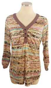 Daytrip Navajo Print Anthropologie Top Multi Color