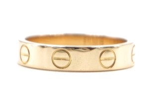 Cartier 18K gold Love wedding band ring size 47 4.25 3.5mm wide