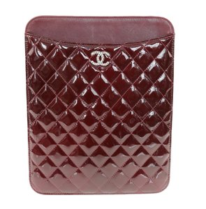 Chanel Chanel Patent Quilted Ipad Case