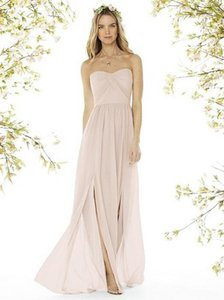 Social Bridesmaids Blush Matte Chiffon 8159 - Strapless Nu-georgette Gown Formal Bridesmaid/Mob Dress Size 8 (M)
