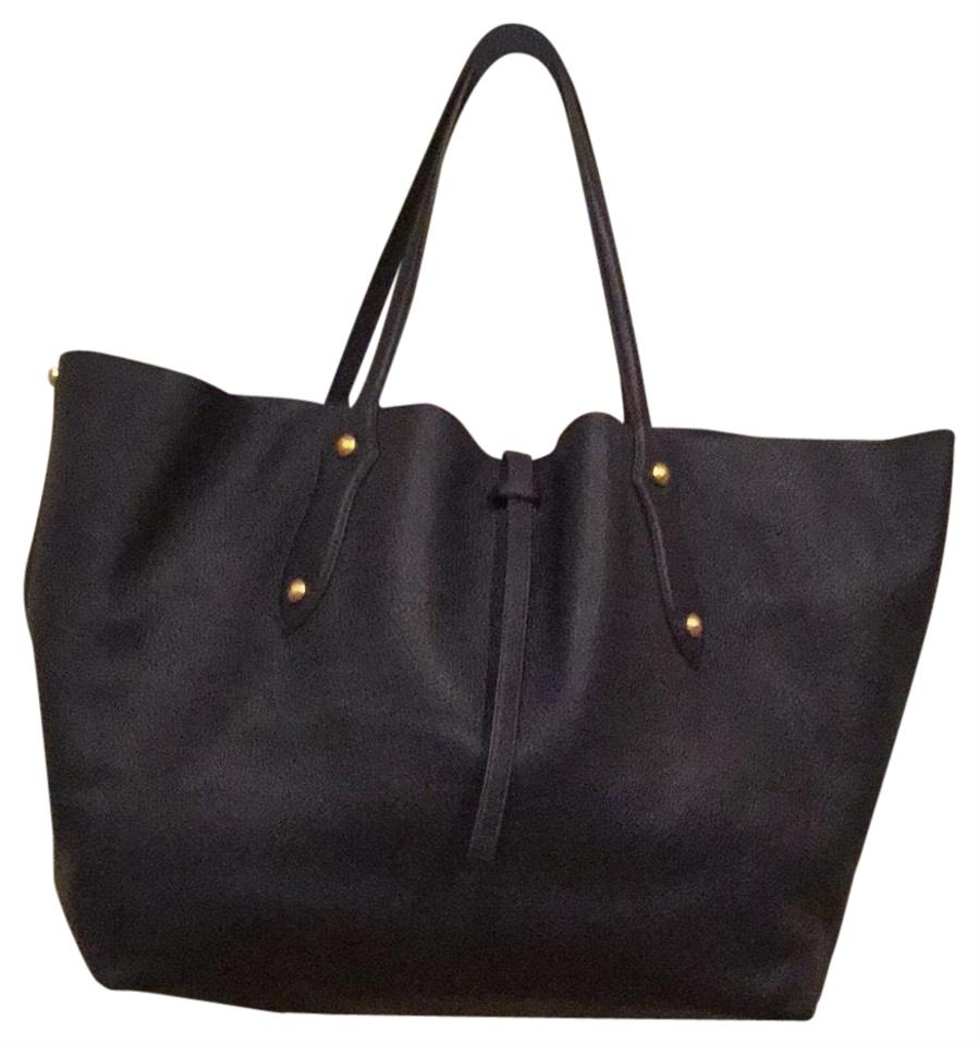 Annabel Ingall Large Isabella Dark Navy Imported Cowhide Leather (Pebble  Leather) Tote 4557877c9df10