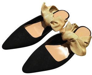 The Row Black and Gold Pumps