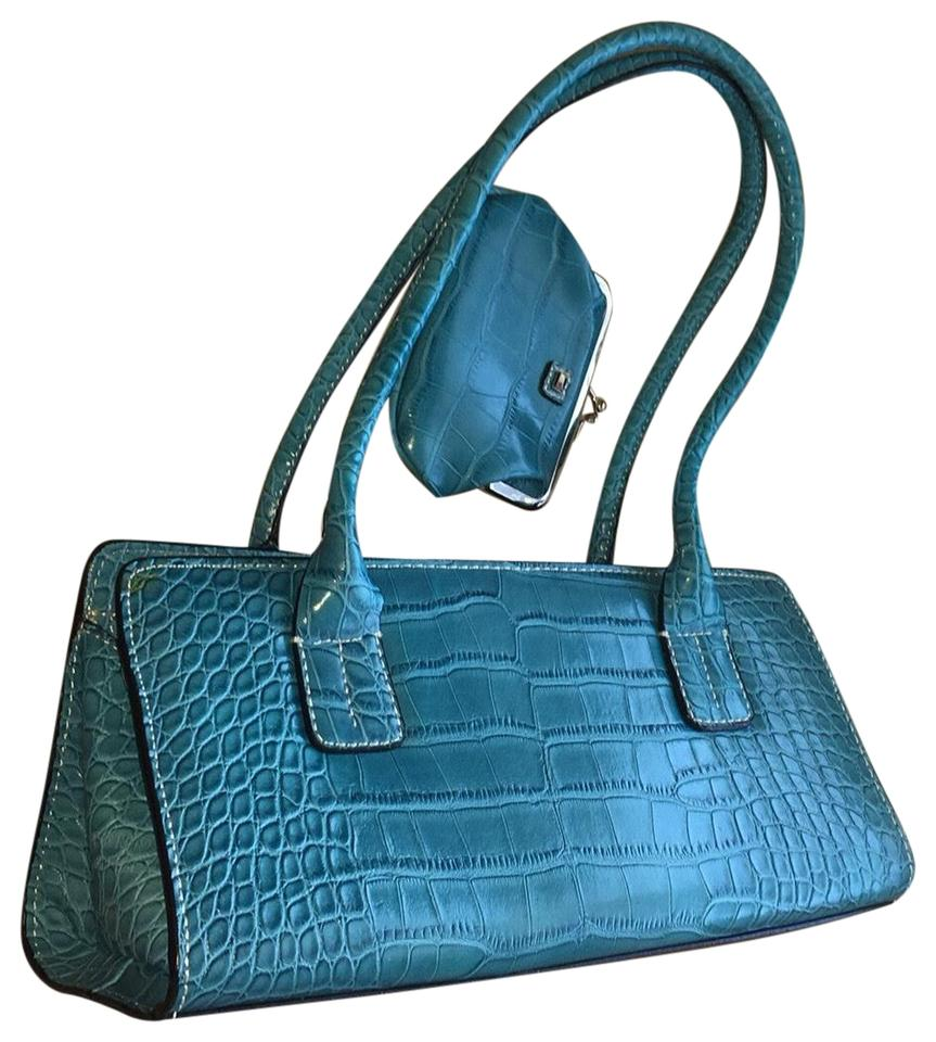 9b9f256d9c Tommy Hilfiger Handbag with Matching Coin Purse Turquoise Faux ...