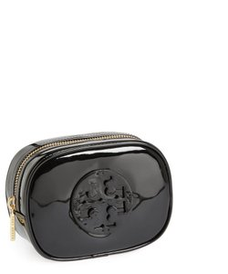 Tory Burch Black Small Patent Case Cosmetic Bag