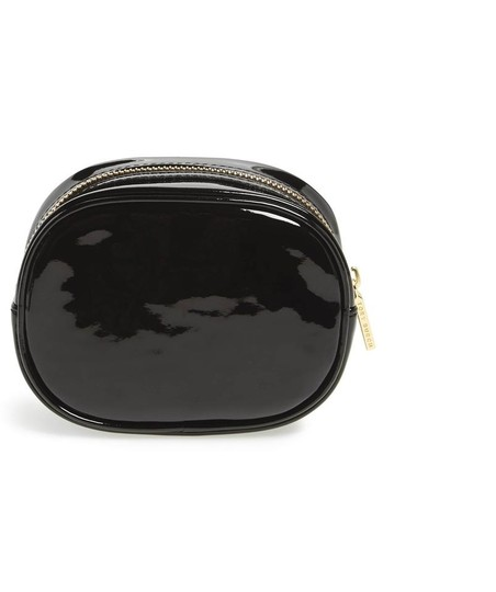 Tory Burch Black Small Patent Case Cosmetic Bag Image 1