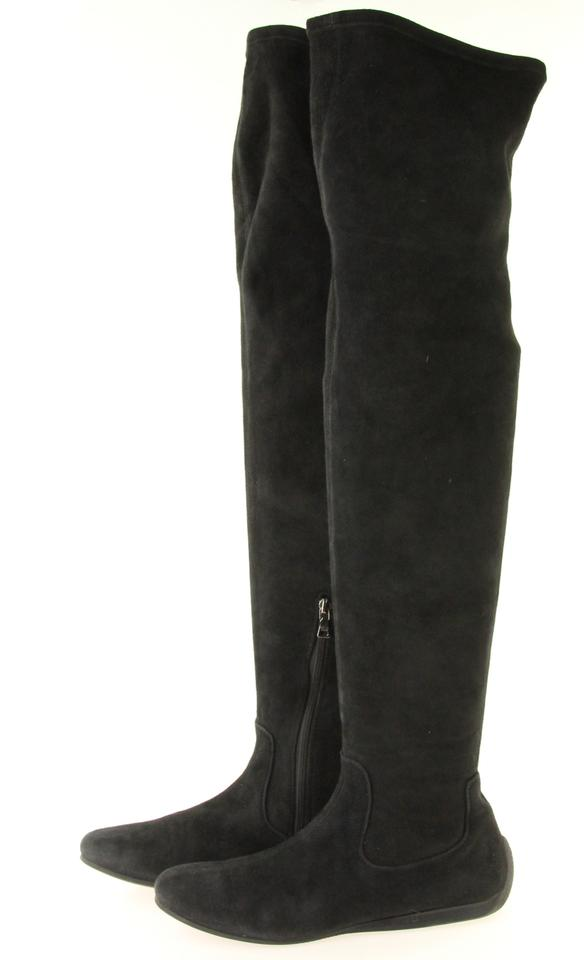 61c575148dd Prada Black Over-the-knee Boots Booties Size EU 38 (Approx. US 8) Regular  (M