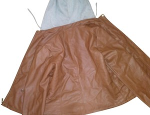 New Look Brown and grey Leather Jacket