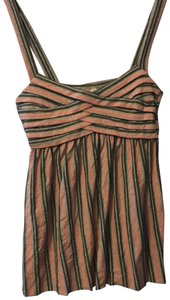 Bailey 44 Top pink, dark and light grey striped