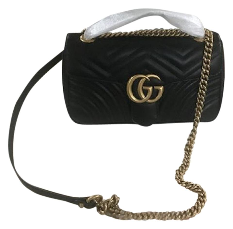 58bb7210e Gucci Marmont Box New Gg Small Matelasse. Dustbag Copy Receipt Black ...