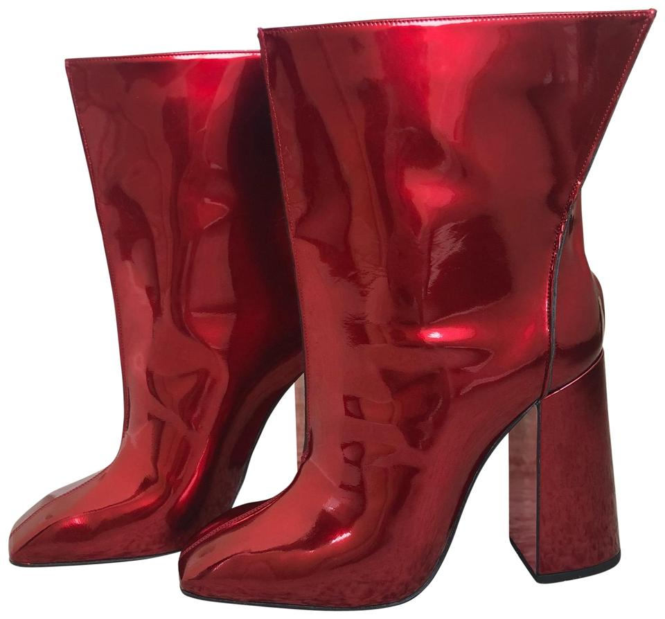 Christian Louboutin Red Hilconissima Patent 100mm Patent Hilconissima Boots/Booties 5b609b