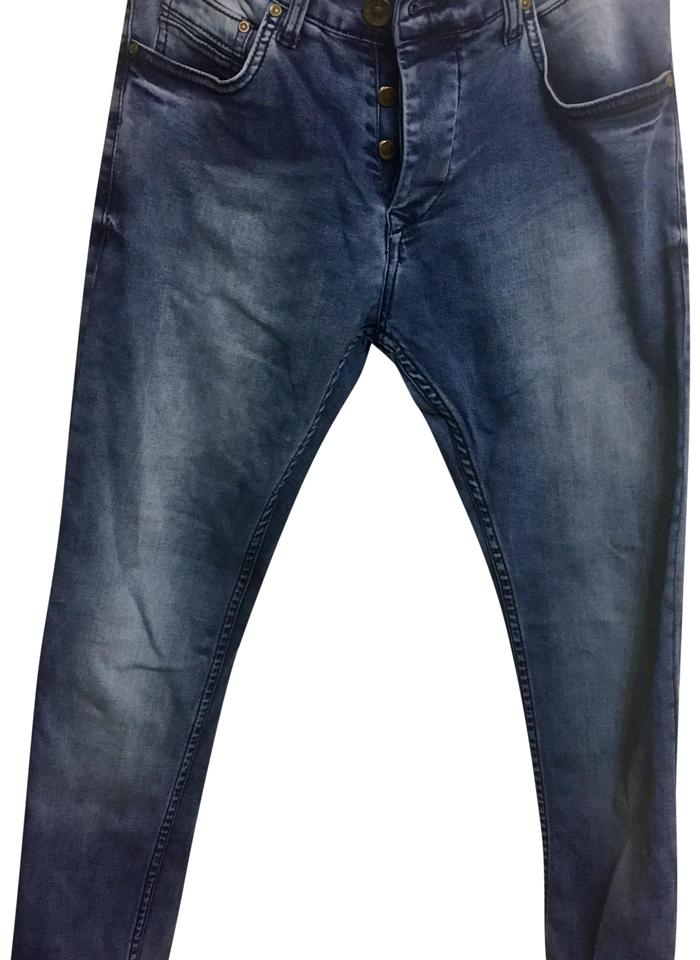 733352c161 Philipp Plein Light Wash Fit Button Fly Skinny Jeans Size 10 (M, 31) 52%  off retail