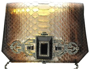 Judith Leiber Python Crystal Evening Shoulder Bag