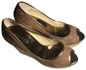 0cb037a1da59 Brown Jimmy Choo Wedges - Up to 90% off at Tradesy