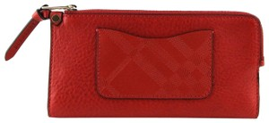 Burberry Burberry Women Red Leather Zip Around Wallet 39144721 cd16a01018