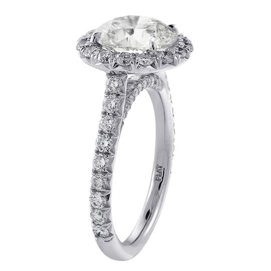 Avital & Co Jewelry Platinum 4.90 Carat Round Cut Diamond Halo Engagement Ring Image 1