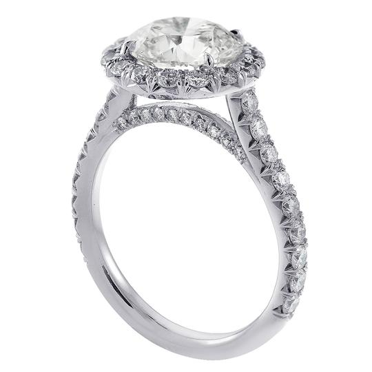 Avital & Co Jewelry Platinum 4.90 Carat Round Cut Diamond Halo Engagement Ring Image 2