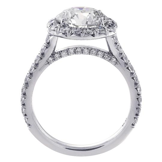 Avital & Co Jewelry Platinum 4.90 Carat Round Cut Diamond Halo Engagement Ring Image 3