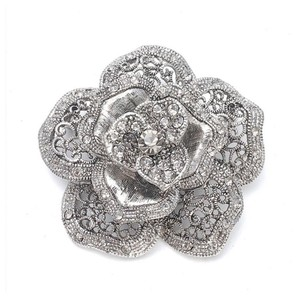 Mariell Silver Vintage Rose Special Occasion 971p-as Brooch/Pin Brooch/Pin