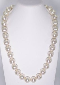 Mother of Pearl White 14mm South Sea Shell 18incs Long Necklace