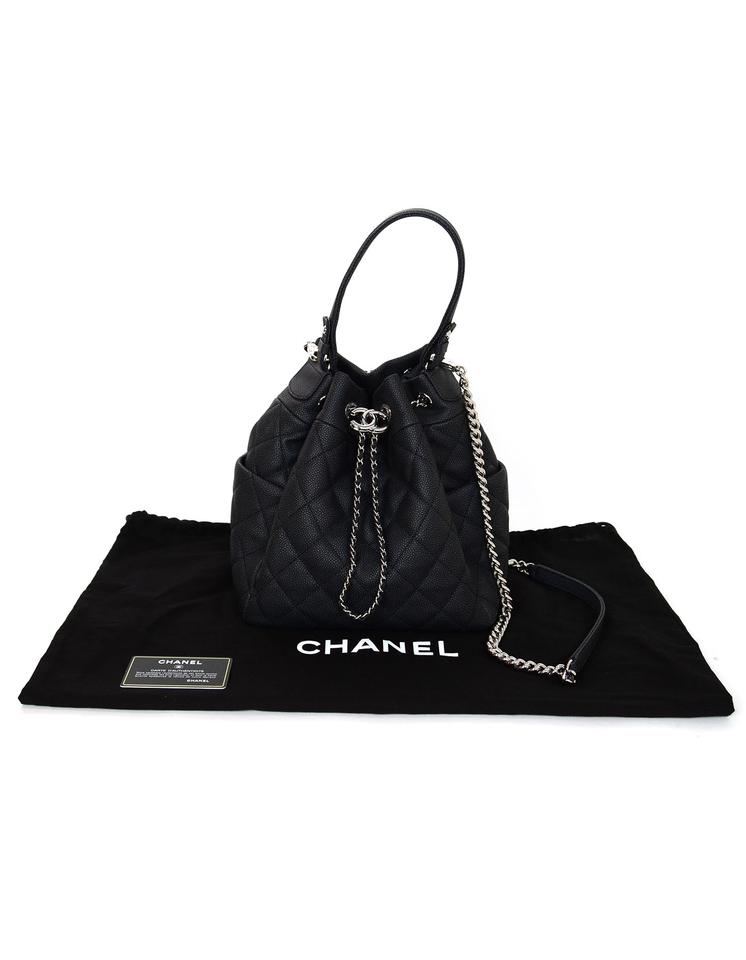 9f223163ee40 Chanel Classic Quilted Leather Bucket Cross Body Bag Image 8. 123456789