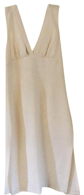 Item - Cream Mid-length Cocktail Dress Size 6 (S)