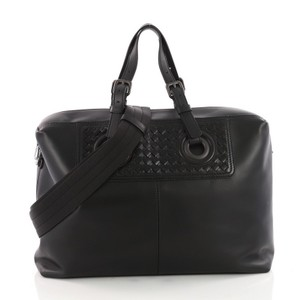 Bottega Veneta Leather Satchel in black