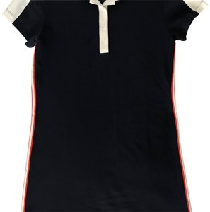 Tory Sport by Tory Burch short dress Navy/white with the classic Tory orange stripes on Tradesy