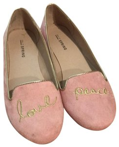 Call It Spring pink suede Flats