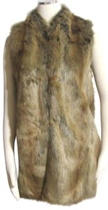 Donna Salyer New Sayler's Faux Fox Fur Size Xs Vest