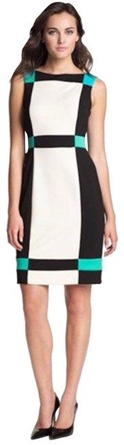 Item - White/Black Colorblock Sleeveless Lined Mid-length Formal Dress Size 2 (XS)