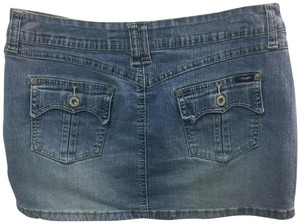Angels Jeans Denim Mini Skirt Blue