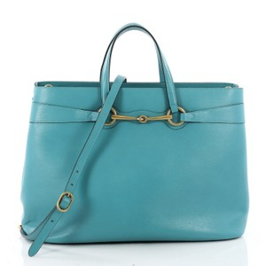 Gucci Leather Tote in Blue