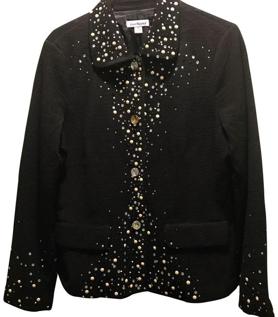 Item - Black Rhinestone Embellished Button-down Top Size 6 (S)
