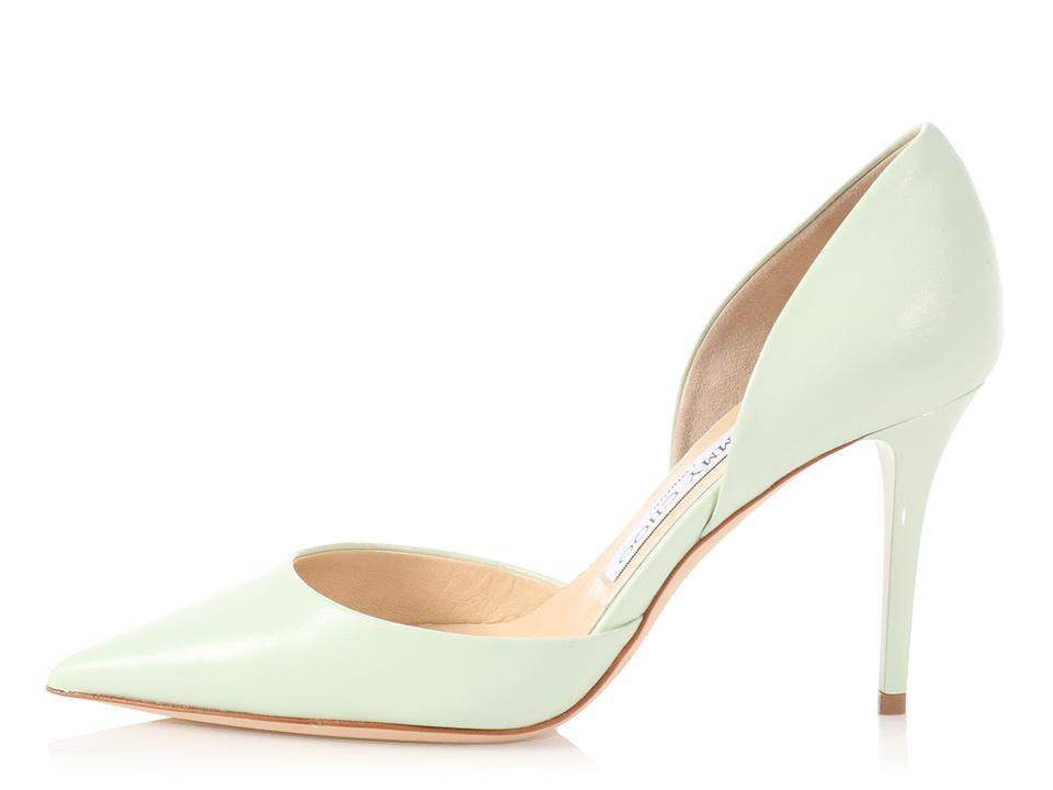 169aa563c96 Jimmy Choo Jc.p0406.04 Addison Pointed Toe Pastel Reduced Price Green Pumps  Image ...