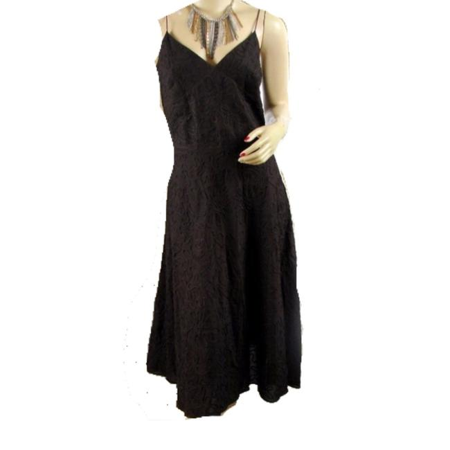 Item - Brown Spaghetti Strap Mid-length Cocktail Dress Size 4 (S)