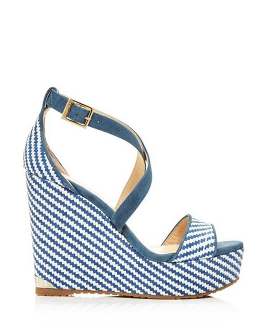 Item - Blue Women's Portia 120 Striped Platform Sandals Wedges Size EU 36.5 (Approx. US 6.5) Regular (M, B)