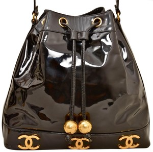Chanel Bucket Patent Leather Drawstring Cross Body Bag