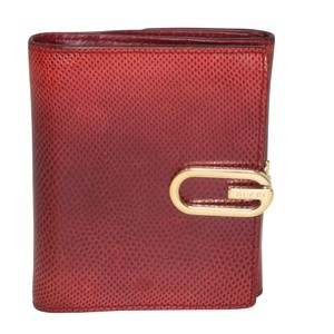 Gucci Classic Double-Sided G Logo Money Clip Snakeskin Leather French Wallet