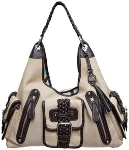 Rafe Satchel in Natural and Brown