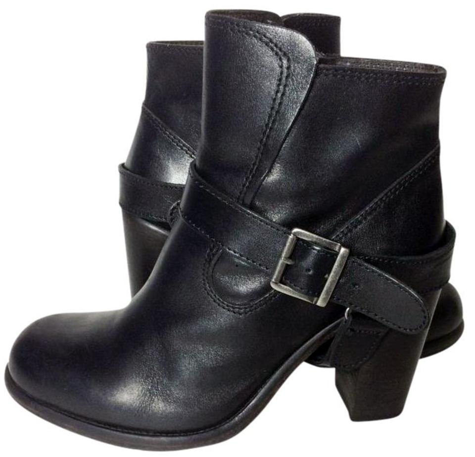 524316b9fb AllSaints Black Jules Heeled Leather Motorcycle Women's Boots/Booties