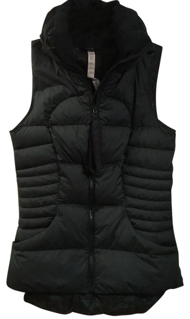Item - Hunter Green Fluffin Awesome Vest Size 4 (S)