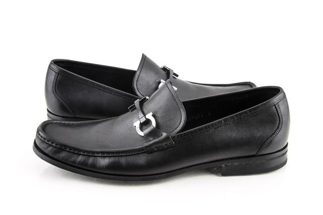 Item - Black Grandioso Calfskin Leather Loafers with Double Gan Shoes